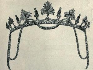 Engraving; Diamond and Emerald Tiara, 1886