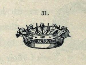 Engraving, Naval Crown, 1886