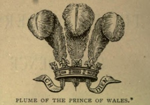 Engraving, Plume of the Prince of Wales, 1893