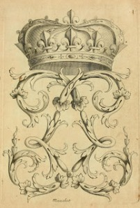 French Crown and Flourish, 1685