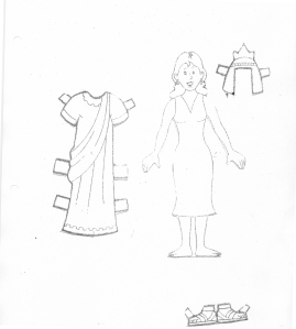 esther paper doll