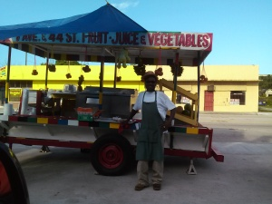 Bombo and his fruit stand